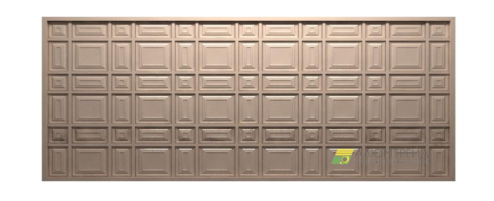 въездные ворота шоколадка