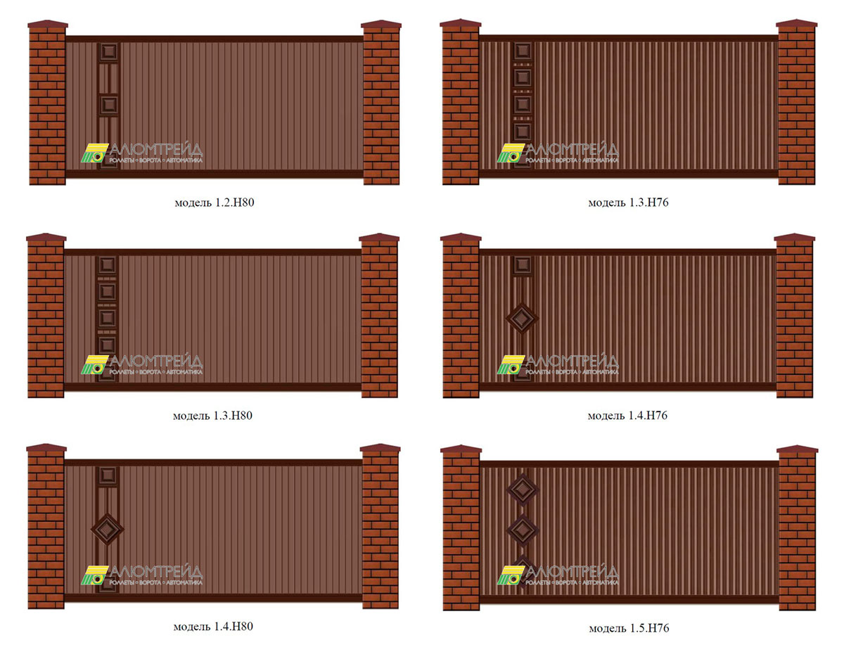 металлические ворота хардвик