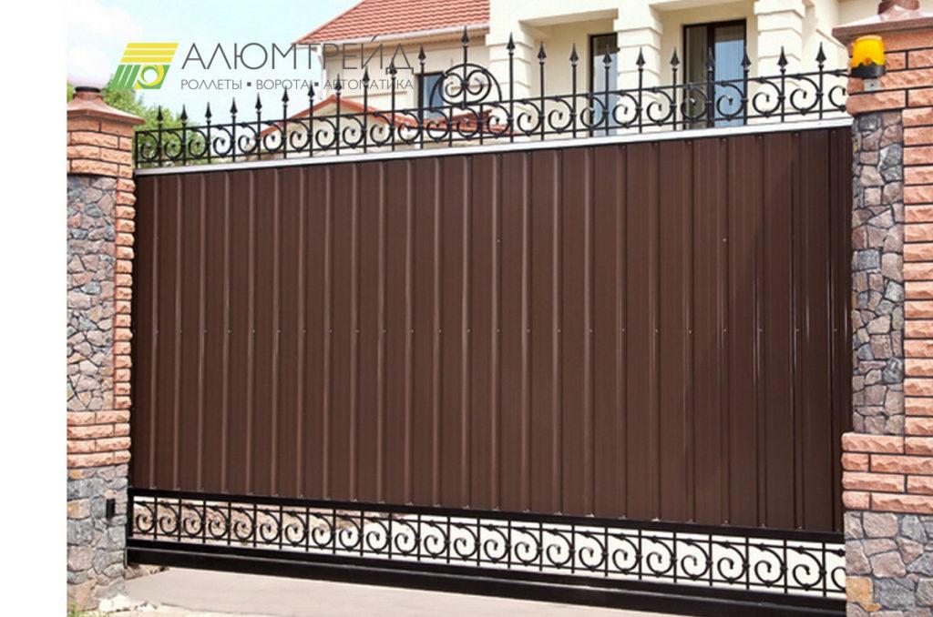 откатные комбинированные ворота