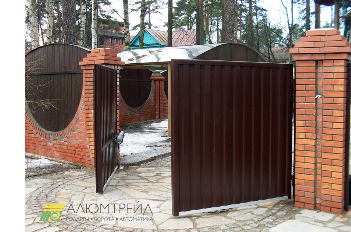 ворота распашные алюмтрейд